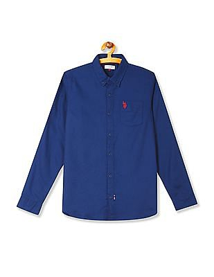 U.S. Polo Assn. Kids Boys Long Sleeve Oxford Shirt