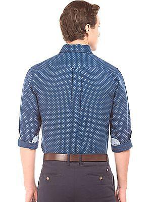 U.S. Polo Assn. Polka Dot Linen Cotton Shirt