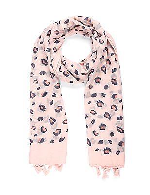 SUGR Pink Glitter Print Stole