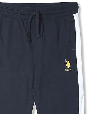 U.S. Polo Assn. Kids Boys Regular Fit Solid Joggers