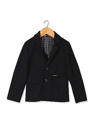 U.S. Polo Assn. Kids Boys Regular Fit Single-Breasted Blazer