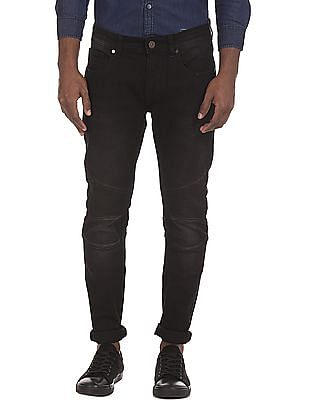 Ruf & Tuf Quilted Panel Slim Fit Jeans