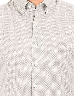 Gant Geometric Print Button Down Shirt