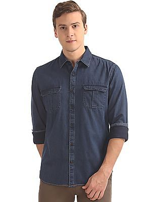 Arvind Slim Fit Denim Shirt