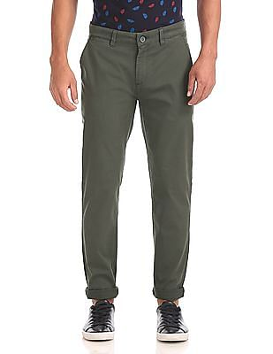 Ruf & Tuf Slim Fit Solid Chinos