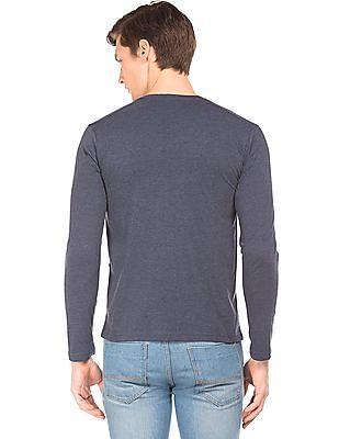 Cherokee Slim Fit Heathered Henley T-Shirt