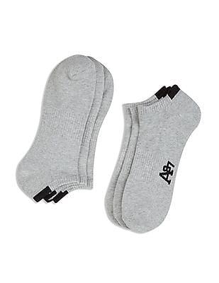 Aeropostale Solid Ankle Length Socks - Pack Of 3