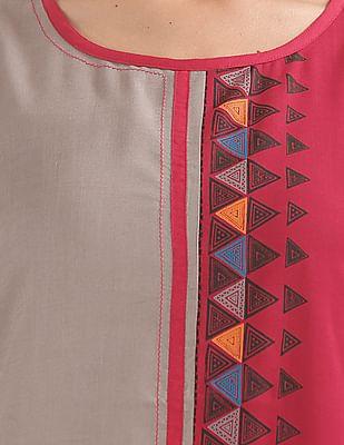 Karigari Printed Sleeveless Kurta