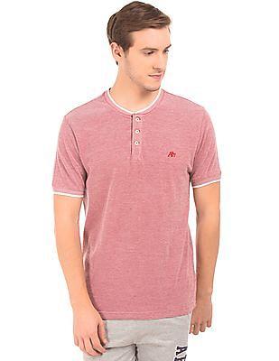 Aeropostale Pique Henley T-Shirt