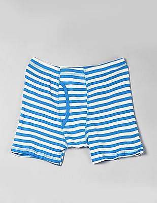 GAP Boys Blue Striped Trunks - Pack Of 5