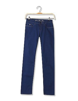U.S. Polo Assn. Women Skinny Fit Dark Wash Jeans