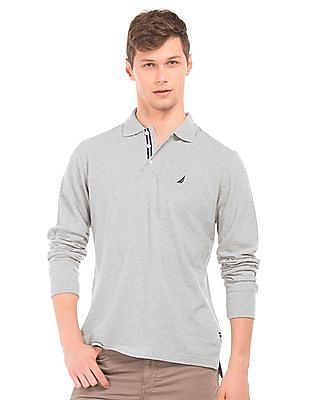 Nautica Long Sleeve Slim Fit Polo Shirt