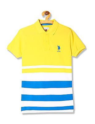 U.S. Polo Assn. Kids Boys Regular Fit Striped Polo Shirt