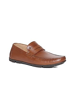 Arrow Leather Penny Driver Loafers