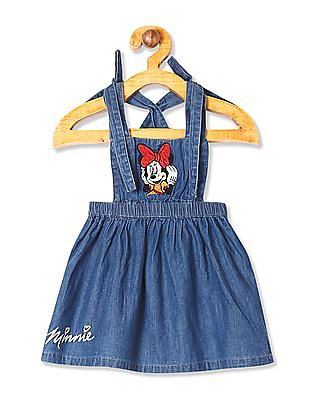 Colt Blue Girls Minnie Mouse Graphic Dungaree Dress
