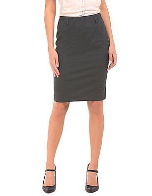 Arrow Woman Elasticized Waist Pencil Skirt