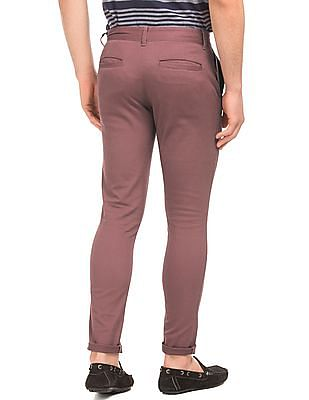 Aeropostale Solid Skinny Tapered Trousers