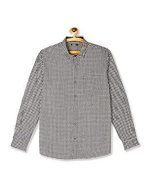 Roots by Ruggers Yellow And Navy Patch Pocket Check Shirt