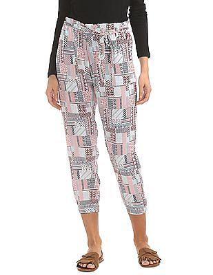 Cherokee Belted Printed Pants