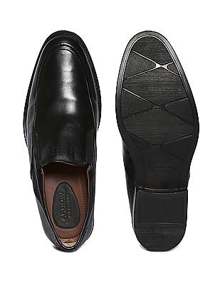 Arrow Solid Leather Slip On Shoes