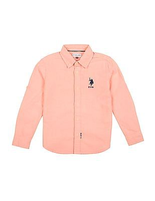 U.S. Polo Assn. Kids Boys Button Down Oxford Shirt
