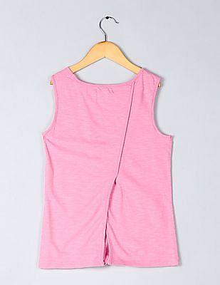 GAP Girls Pink Sleeveless Round Neck Top