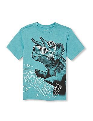 The Children's Place Boys Short Sleeve DJ Dino Graphic Tee
