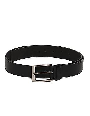 Colt Black Metallic Buckle Tonal Stitch Belt