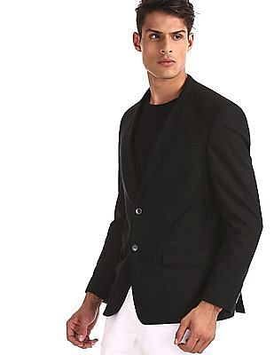 Arrow Black Notch Lapel Collar Single Breasted Blazer