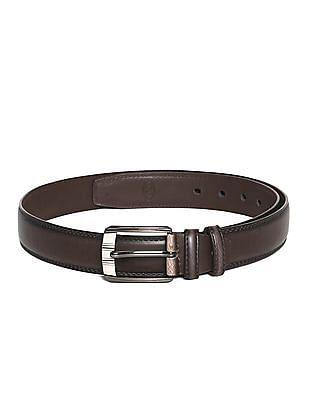 Colt Brown Metallic Buckle Side Stitch Belt