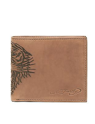 Ed Hardy Embossed Tiger Leather Wallet