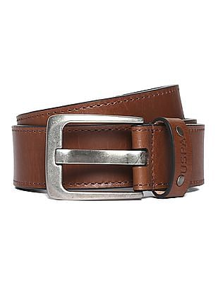 U.S. Polo Assn. Buckle Strap Leather Belt