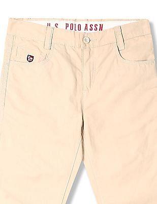U.S. Polo Assn. Kids Boys Slim Fit Flat Front Trousers