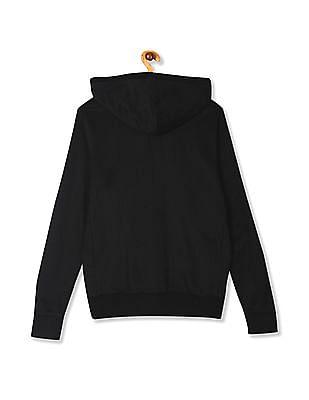 Aeropostale Black Brand Applique Hooded Sweatshirt