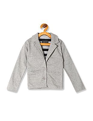 Cherokee Boys Notch Lapel Collar Heathered Blazer