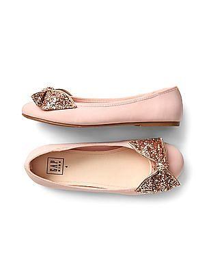 GAP Girls Glitter Bow Ballet Flats