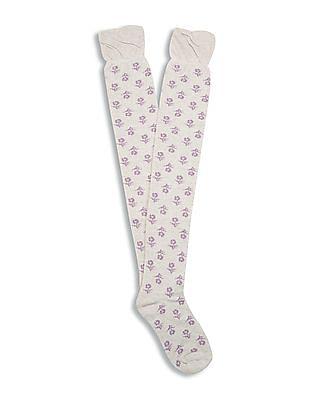 Aeropostale Over The Knee Length Patterned Socks