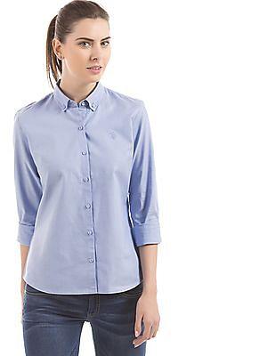 U.S. Polo Assn. Women Button Down Regular Fit Shirt