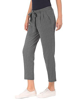 Nautica Twill Printed Pleated Front Pants