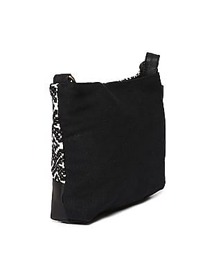 SUGR Patterned Cotton Sling Bag