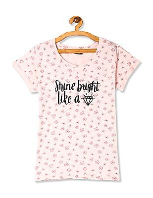 SUGR Round Neck Printed T-Shirt