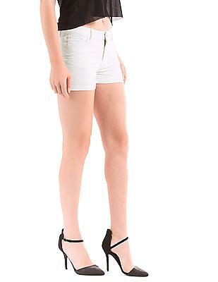Elle Turn Up Hem Denim Shorts