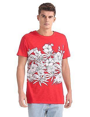 Aeropostale Floral Print Cotton T-Shirt