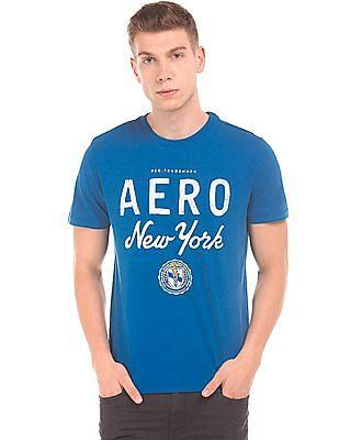 Aeropostale Brand Print Regular Fit T-Shirt