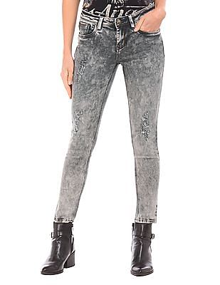 EdHardy Women Mid Rise Skinny Fit Jeans