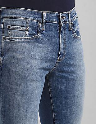 GAP Blue Skinny Fit Faded Jeans