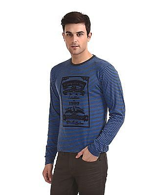 Flying Machine Long Sleeve Striped T-Shirt
