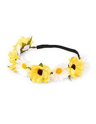 The Children's Place Girls Daisy Flower Crown Twisted Headwrap