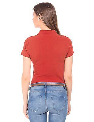 U.S. Polo Assn. Women Regular Fit Pique Polo Shirt