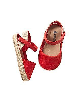 GAP Girls Eyelet Espadrille Sandals
